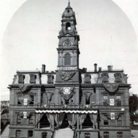City Hall, decorations for the Trade Carnival, Oct. 4-9, 1897