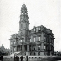 City Hall, showing iron fence, 1898