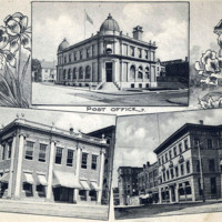 Post Office building; Lynn Business College; Lynn Historical Society