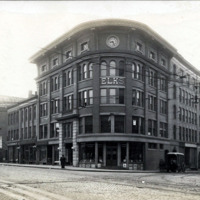 Elk's building, south corner of Spring and Exchange Street