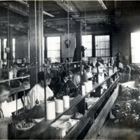 A.E. Little and Company, shoe manufacturer; stitching room, 70 Blake Street : view 3