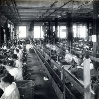 A.E. Little and Company, shoe manufacturer; stitching room, 70 Blake Street: View 6