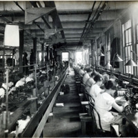 A.E. Little and Company, shoe manufacturer; stitching room, 70 Blake Street: View 4