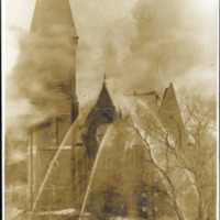Washington Street Baptist Church, fire 1905