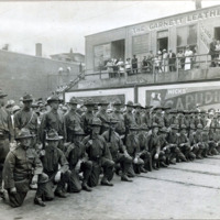 Co. D & Co. I, 8th Regiment, Mass. Infantry, National Guard on Mt. Vernon Street, July 27, 1917