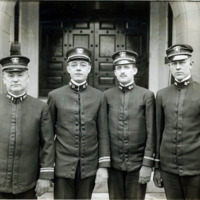 Lynn Officers of the U.S.S. Kearsarge, in front of Lynn Armory, April, 1, 1917