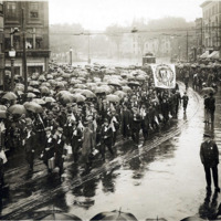 Second contingent, first draft, leaving Lynn, Sept. 21, 1917