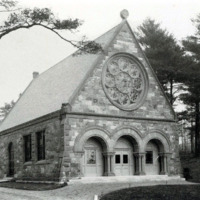 Pine Grove Cemetery : view of chapel, 1898