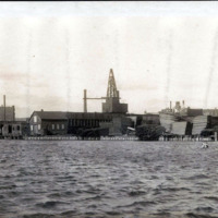 Waterfront from Hutchinson Lumber Company to Stevens and Newhall Wharf