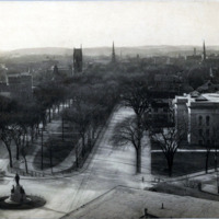 View from City Hall Tower, looking west down common