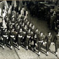 American legion drill team, East Lynn Post 291, Nov. 11, 1930