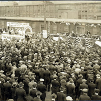 General Electric float in company yard, 1922