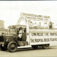 Lynn Hospital float, Armistice Day parade, 1922