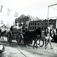 Carnival parade, City Hall Square (1879?)