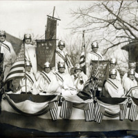 Odd Ladies float, Armistice Day, Nov. 12, 1928