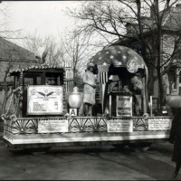 General Electric float, Armistice Day parade, Nov. 11, 1928