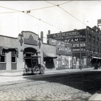 Exchange Street, east corner, from Lynn Item building to Washington Street