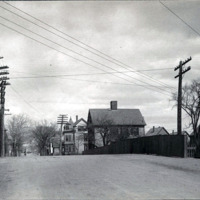 Fayette Street over B & M Railroad, looking northwest