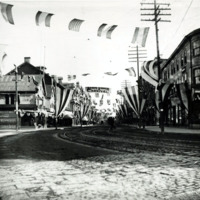Market Street from City Hall Square, Lynn Trade Carnival, July 7th (1879?)