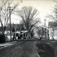 Cottage Street, showing B & M Saugus Branch Grade Crossing