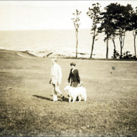 President and Mrs. Calvin Coolidge, Swampscott, August, 1925
