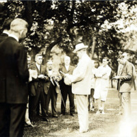 President Coolidge at White Court, Swampscott, Summer of 1925