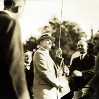 President Coolidge raising the flag on the Lynn Common Aug. 27, 1925