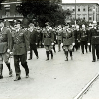 Congressman Connery's funeral: General Agnew and General Dan. Needham, June 21, 1937