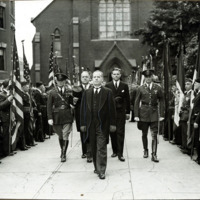 Congressman Connery's funeral:  Leaving St. Mary's Church Lynn, June 21, 1937.
