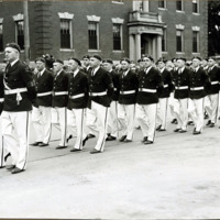 Congressman Connery's funeral: Y.D. marching in Lynn, June 21, 1937.