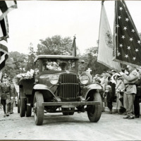 Congressman Connery's funeral: caisson entering St. Mary's cemetery