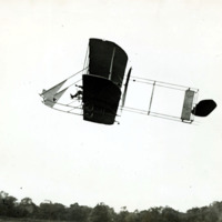 Harry Atwood flying first New England air mail delivery