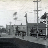 Pleasant Street & B&M Railroad Crossing