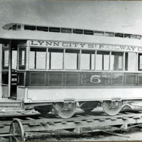 Electric car of the Lynn City Street Railway Company