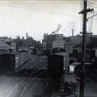 Railroad Yard of B&M, west of Pleasant Street crossing