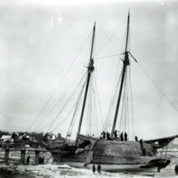 Wreck of Winslow T. Morse, Lynn Beach, February 9, 1895