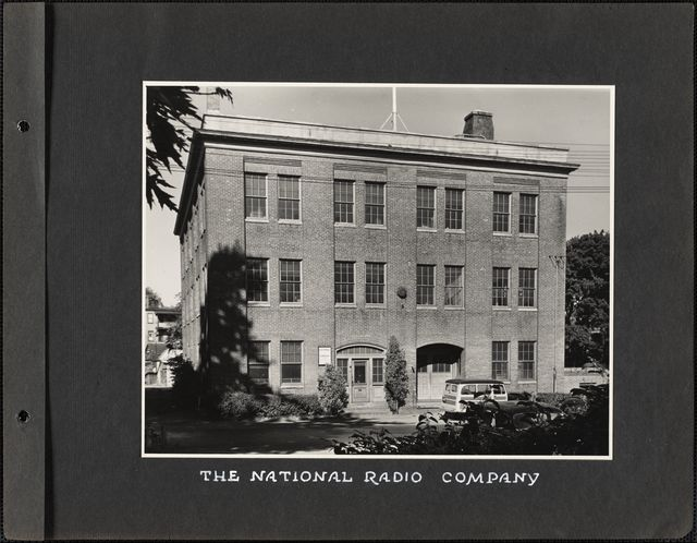 The National Radio Company Melrose Public Library Melrose Mass
