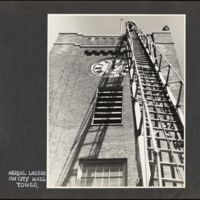 Aerial ladder on City Hall tower