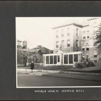 World War II honor roll In front of Coolidge Apartments