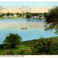 Ell Pond from West Shore, Melrose, Mass.