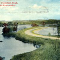 Duck Pond and Stoneham Road, Middlesex Fells Reservation.