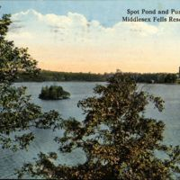 Spot Pond and Pumping Station, Middlesex Fells Reservation, Mass.