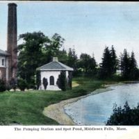 The Pumping Station and Spot Pond, Middlesex Fells, Mass.