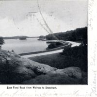 Spot Pond Road from Melrose to Stoneham.