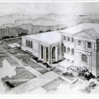 Architect's drawing of addition