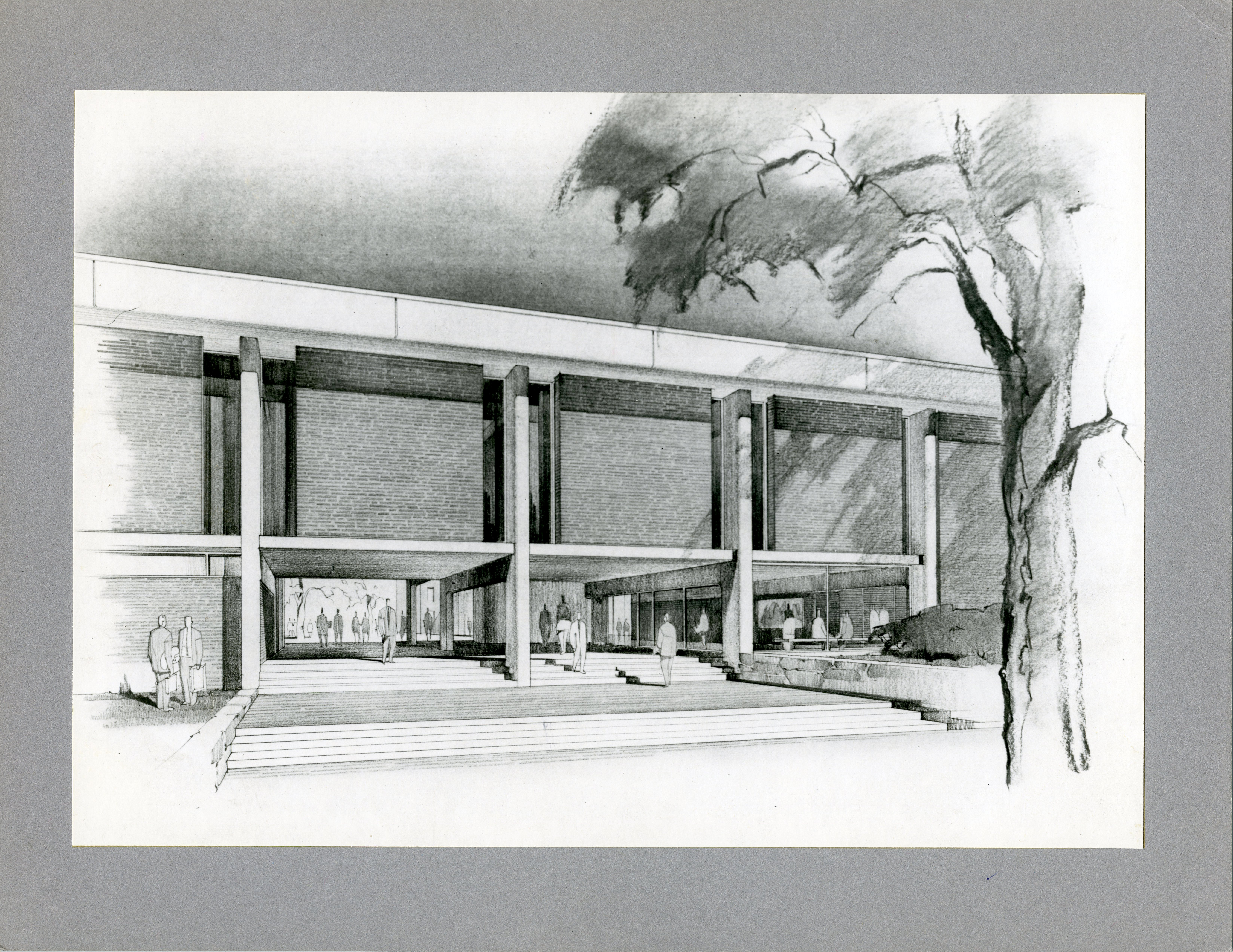 Arts and Communications Center Architect Drawing Exterior ...