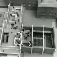 Arts and Communications Center Architect Model Second Floor East and Kemper Auditorium