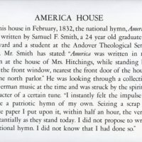 America House Historical Poster