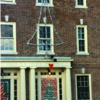 Bishop Hall Decorated for Christmas