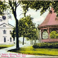 The Square showing Old South Church, Reading, Mass.  built 1817